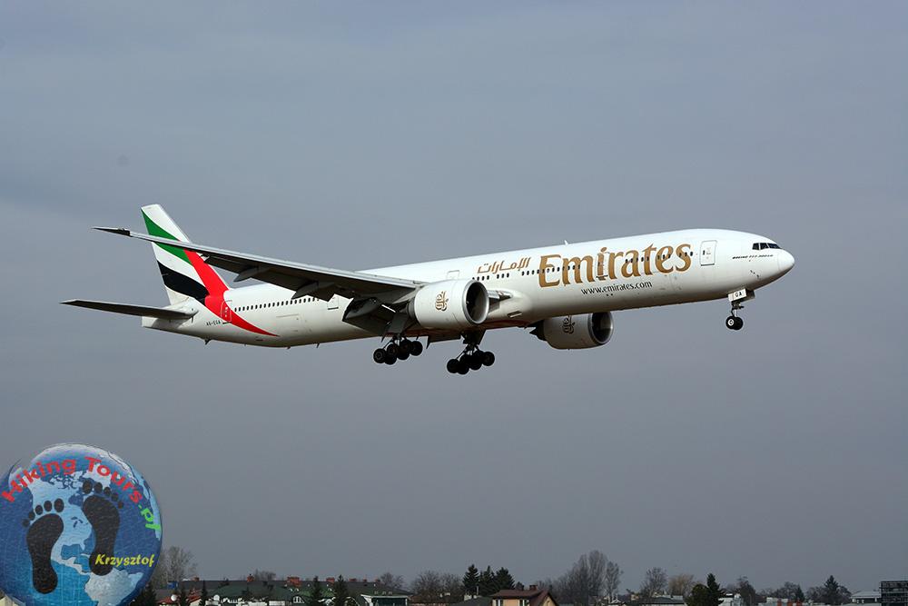 Emirates okęcie spotting